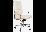 Кресло Eames Style HB Soft Pad Executive Chair EA 219 кремовая кожа