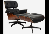 Кресло Eames Style Lounge Chair & Ottoman Black Premium U.S. Version