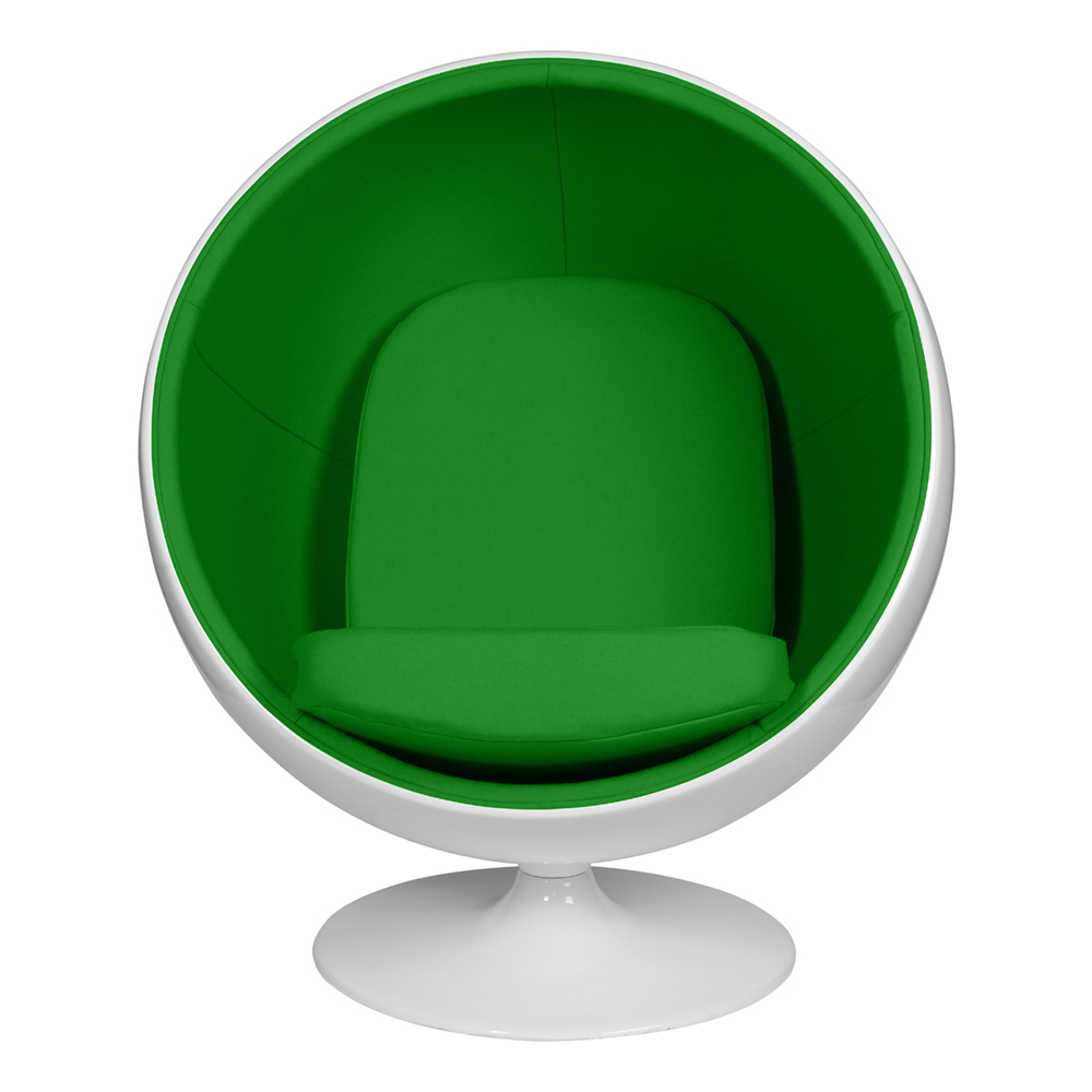 Кресло Eero Aarnio Style Ball Chair зеленая ткань
